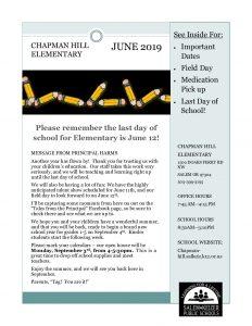 June Newsletter 2019