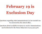 Statewide Exclusion Day 2020